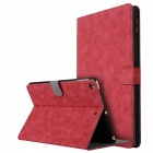 """Retro Frosted PU Leather Case Cover Wallet Cards Holder with Stand Function for 2017 9.7"""" IPAD - Red"""