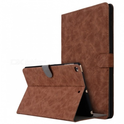 """Retro Frosted PU Leather Case Cover Wallet Cards Holder with Stand Function for 2017 9.7"""" IPAD - Brown"""