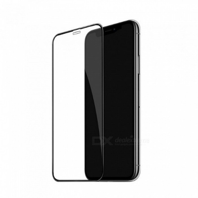 Mini Smile 0.2mm Full Coverage Tempered Glass Protector for IPHONE X - Black