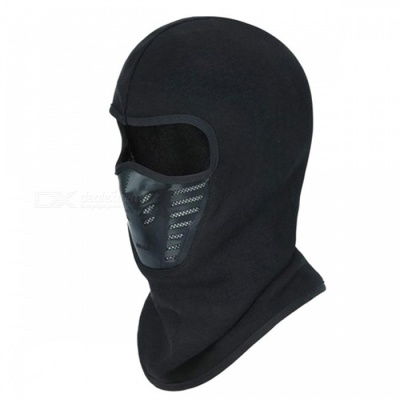 Winter Full Face Cover Thermal Fleece Lined Warm Windproof Anti Dust Ski Mask Balaclava Hood Rubber Breathable Vent