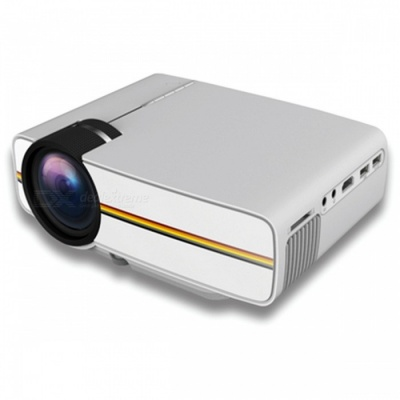 YG410 Mini Portable 1080P HD LED Projector for IPHONE, Android Smartphone, Tablet PC - White (US Plug)