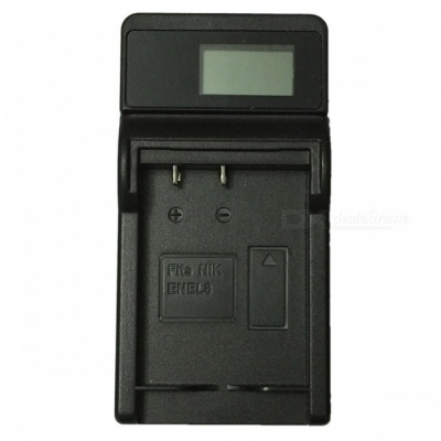 Ismartdigi EL8 LCD USB Camera Battery Charger for Nikon EL8 EN-EL8 Battery - Black
