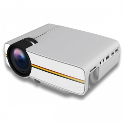 YG410 Mini Portable 1080P HD LED Projector for IPHONE, Android Smartphone, Tablet PC - White (EU Plug)