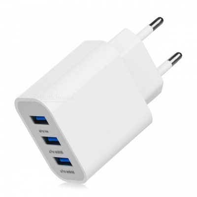 BSTUO 5V 3.1A 3-USB Port Quick Charge Travel AC Charger (EU Plug)