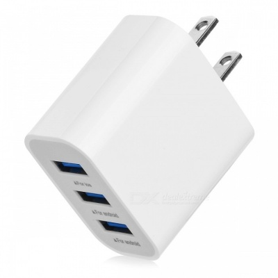 BSTUO 5V 3.1A 3-USB Port Quick Charge Travel AC Charger (US Plug)