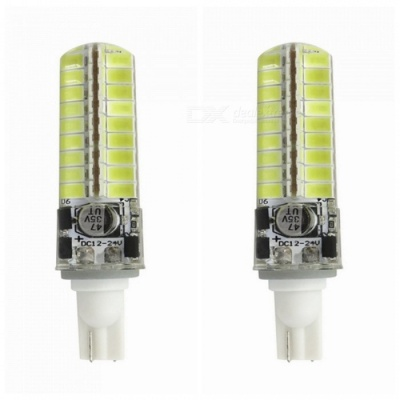 ZHAOYAO T10 5W 5730 SMD 72-LED Silicone Cold White Light Lamp Bulb (2PCS)