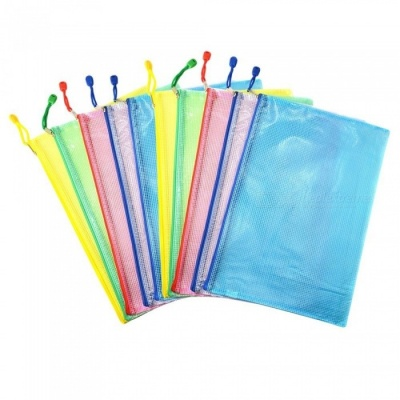 Office A4 File Paper Pocket Holder Document Zipper Bag - Assorted Color (10 PCS)