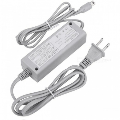 Kitbon Wall AC Power Supply Adapter Charger w/ Cable for Nintendo Wii U Gamepad Remote Controller (US Plug)