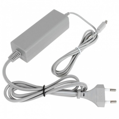 Kitbon Wall AC Power Supply Adapter Charger w/ Cable for Nintendo Wii U Gamepad Remote Controller (EU Plug)