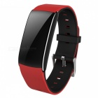 "A86S 0.96"" OLED Smart Fitness Bracelet with Blood Pressure Oxygen, Heart Rate Monitor - Red + Black"