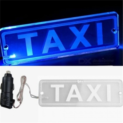 Universal Taxi Car Windscreen Windshield Cab LED Indicator Lamp - Blue Light