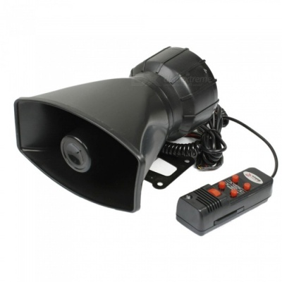 CARKING 60W DC 12V 5 Tones Electronic Siren Horn w/ Microphone for Cars
