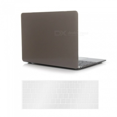 """Dayspirit PC Crystal Case + Keyboard Cover for MACBOOK 12"""" A1534 - Gray"""