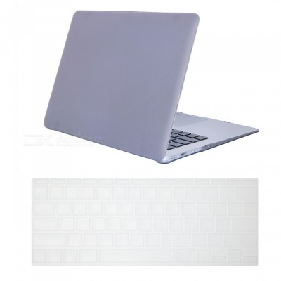 "Dayspirit Ultra Slim Matte Hard Case + Keyboard Cover for MacBook Air 11.6"" A1370 / A1465 - Gray"