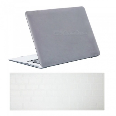 "Dayspirit Ultra Slim Crystal Hard Case + Keyboard Cover for MacBook Air 13.3"" A1369/A1466 - Gray"