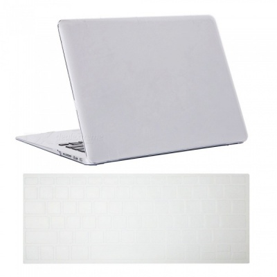 "Dayspirit Ultra Slim Crystal Hard Case + Keyboard Cover for MacBook Air 13.3"" A1369/A1466 - White"