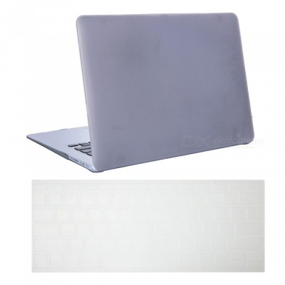 "Dayspirit Ultra Slim Matte Hard Case + Keyboard Cover for MacBook Air 13.3"" A1369/A1466 - Gray"