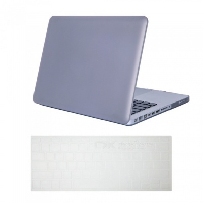 "Dayspirit Ultra Slim Matte Hard Case + Keyboard Cover for MacBook Pro 13.3"" with CD-ROM A1278 - Gray"