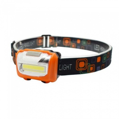 ZHAOYAO Waterproof Multifunctional COB 3-Mode Headlight - Orange (3 x AAA Batteries Not Included)