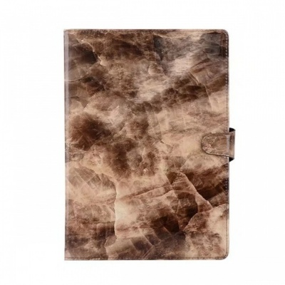 "Shockproof Flip-Open Full Body Marble Hard PU Leather Case with Stand, Card Holder for IPAD (2017) 9.7"" - Brown"