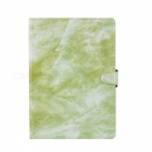 """Shockproof Flip-Open Full Body Marble Hard PU Leather Case with Stand, Card Holder for IPAD (2017) 9.7"""" - Green"""