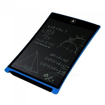 "8.5"" Ultra Slim Thin Mini Writing Message Board Handwriting Pad, Whiteboard Bulletin Memo Board with Pen - Blue"