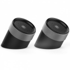 QCY QQ1000 Portable 3D Stereo Metal Bluetooth Wireless Loudspeaker Speaker - Dark Grey