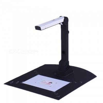 500W Pixels Portable Folding High-speed Camera Document Scanner - Black