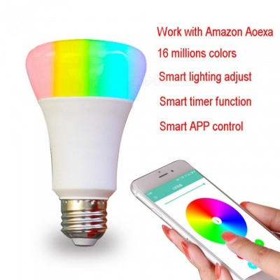 Jiawen 5W Multicolored Smart Wi-Fi LED Light Bulb (AC 110-220V)