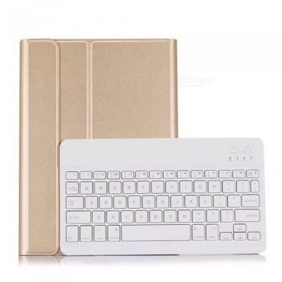 Miimall Ultra-Slim Wireless Bluetooth Keyboard Case Folio Stand Cover for Apple IPAD Air / IPAD Air 2 / IPAD Pro 9.7 Inch - Gold