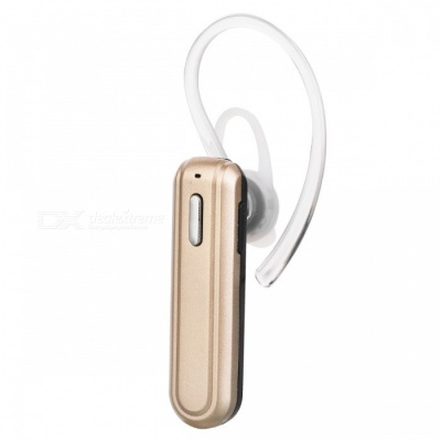 X22 Mini Portable Bluetooth Wireless Headset Earpiece with Mic - Golden