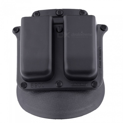 ACCU New 6900PMP Double Magazine Pouch Holster for Glock Double-Stack 9mm /.40 cal Magazines - Black
