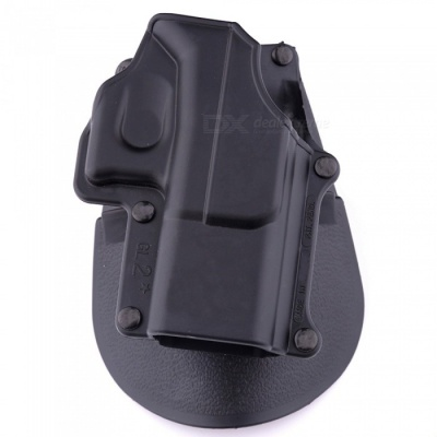 ACCU Tactical GL-2 Standard Right Hand Paddle Holster for Glock - 17, 19, 22, 23, 34, 35 - Black
