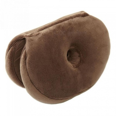 P-TOP 45*31*10cm PP Multi-functional Plush Beauty Buttocks Chair Seat Cushion for Car Home - Coffee