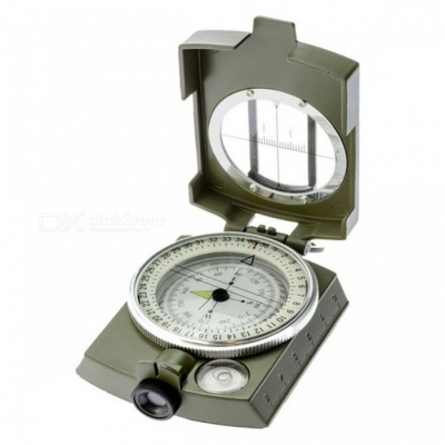 OJADE Pocket-Size Survival Military Geology Outdoor Metal Compass for Hiking Travel Hunting Camping