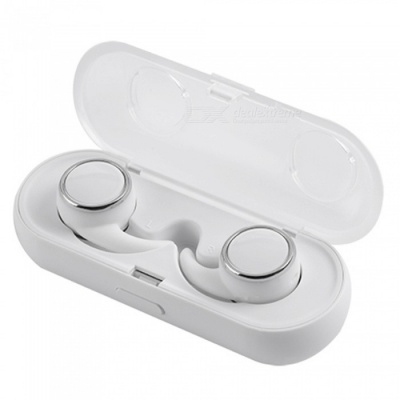 Eastor R160 TWS Bluetooth V4.1 True Wireless Stereo Earphone Earbud with MIC, 300mAh Charging Box - White