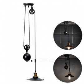 YouOKLight AC85-265V E26/E27 Vintage Pulley Lift Pendant Hanging Lamp for Dining Room Bar Industrial Lighting