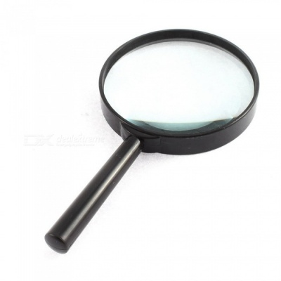 75mm Portable Handheld Magnifying Glass Magnifier for Reading - Black