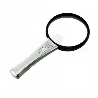 90mm Handheld Illumination Magnifier Magnifying Glass with LED Lights for Better Reading