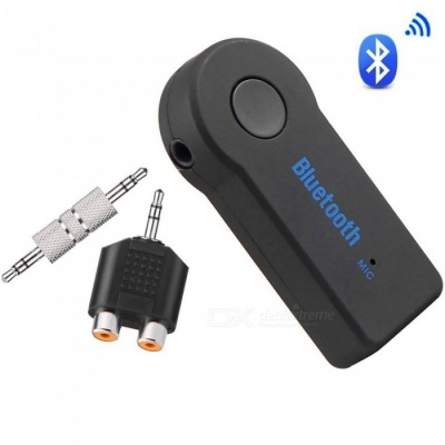 Bluetooth V4.1 Receiver Audio Adapter with RCA Jack and 3.5mm AUX for Home Car Sound System