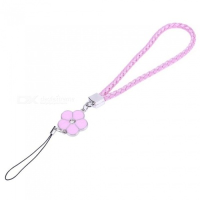 Maikou Flower Style Lanyard Strap for Mobile Phone - Pink