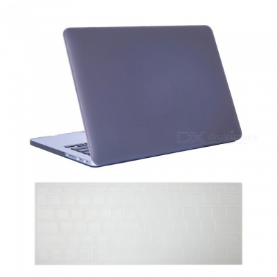 "Dayspirit Ultra Slim Matte Hard Case + Keyboard Cover for MacBook Pro 13.3"" with Retina Display A1425/A1502 - Gray"