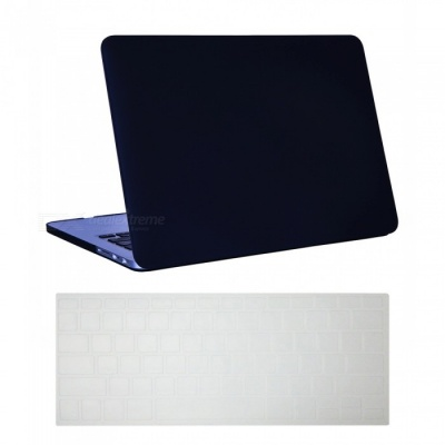 "Dayspirit Ultra Slim Matte Hard Case + Keyboard Cover for MacBook Pro 13.3"" with Retina Display A1425/A1502 - Black"