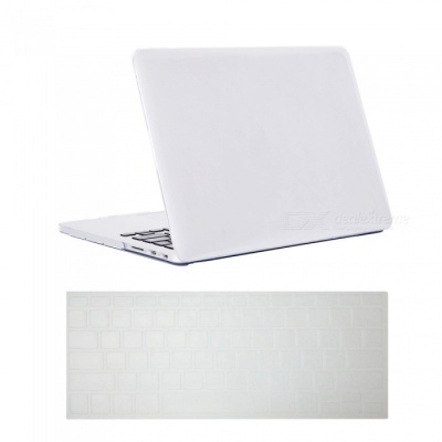 Dayspirit Ultra Slim Crystal Hard Case + Keyboard Cover for Macbook Pro 15-Inch A1398 with Retina Display - White