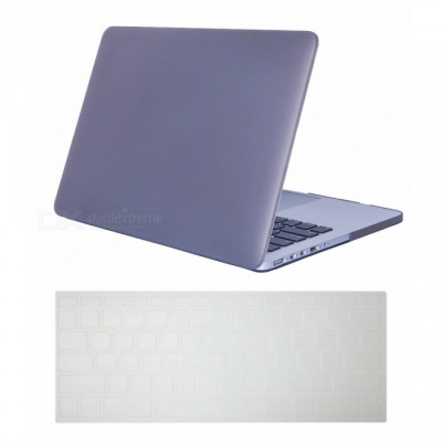 Dayspirit Ultra Slim Matte Hard Case + Keyboard Cover for Macbook Pro 15.4 Inch A1398 with Retina Display - Gray