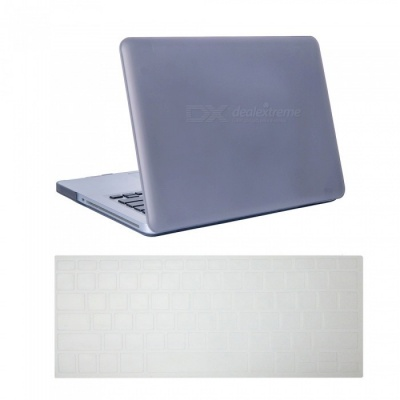 Dayspirit Ultra Slim Matte Hard Case + Keyboard Cover for MacBook Pro 15.4 inch with CD-ROM (A1286) - Gray