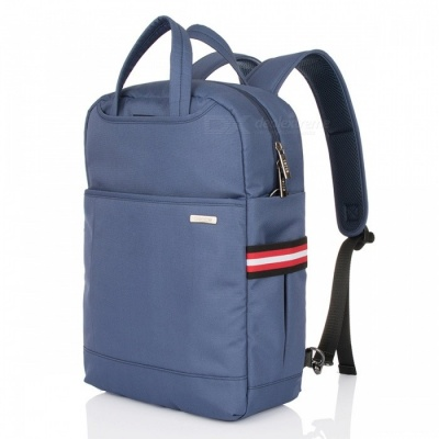 """OSOCE S24 Large Capacity 15.6"""" Nylon Water-Resistant Business Travel Laptop Backpack - Deep Blue"""