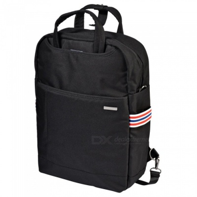 """OSOCE S24 Large Capacity 15.6"""" Nylon Water-Resistant Business Travel Laptop Backpack - Black"""