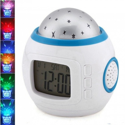 ZHAOYAO Sky Star Projector Night Light Lamp with Music, Alarm Clock for Children Baby Bedroom, Home Decoration