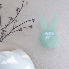 P-TOP Mini Rabbit Shape Voice Control LED Alarm Clock with Temperature Display for Bedroom - Blue